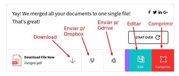 Como unir 2 ou mais arquivos pdf em arquivo nico blog da informtica smallpdf fazer download ou reduzir stopboris Images