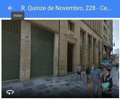 Fachada da empresa no Google Maps