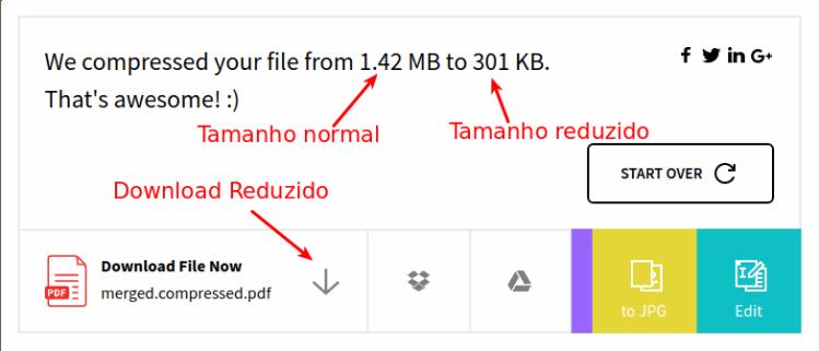 SmallPdf - Download reduzido