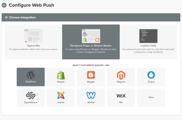 Configurar WebPush - WordPress