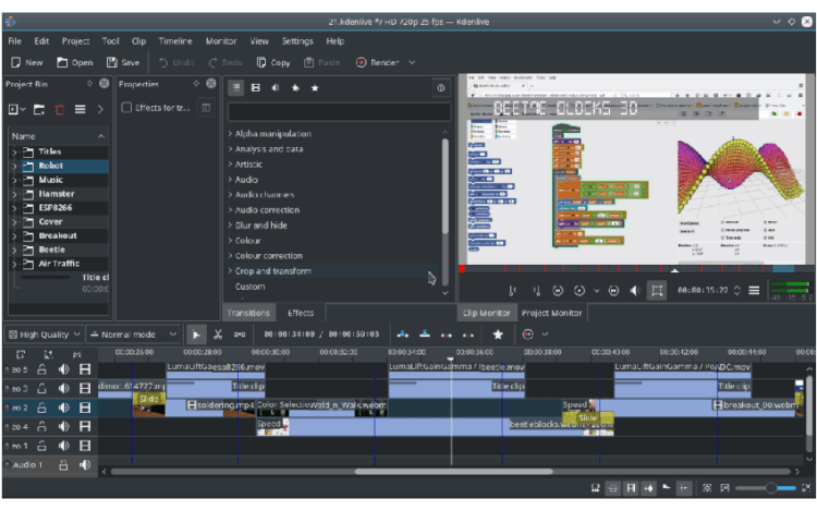 Kdenlive - Editor de vídeos