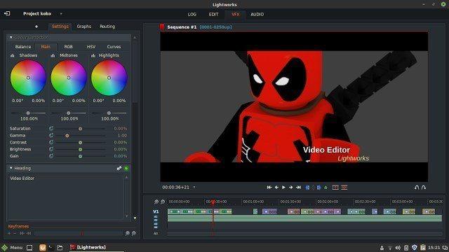Lightworks - Editor de vídeo