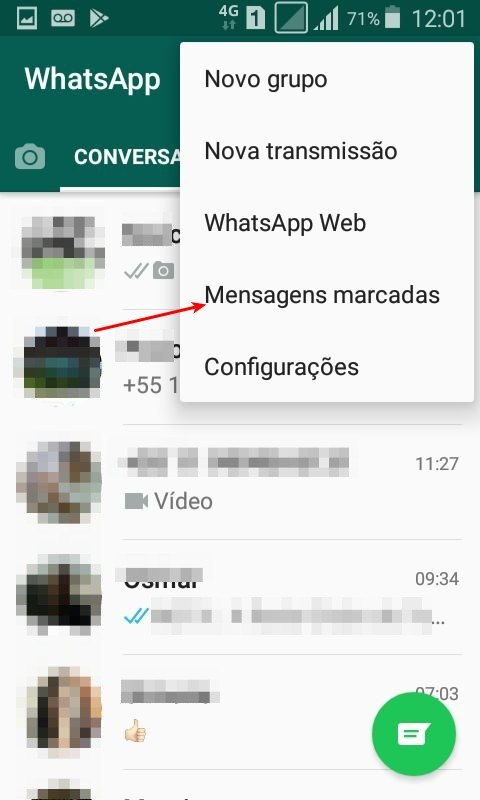 Mensagens salvas do WhatsApp no Android