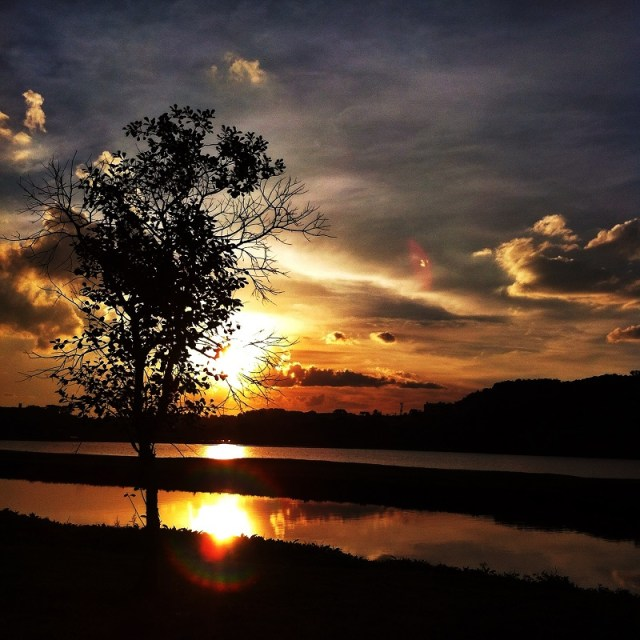 Pôr do sol Barigui Curitiba