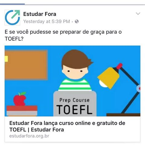 TOEFL   Crédito: Divulgação