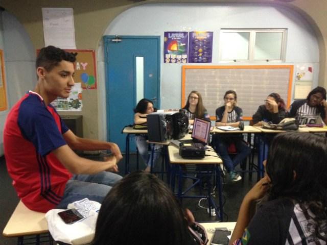 Belford Roxo | Lucas compartilha a experiência de intercâmbio em sua escola | Foto: Lucas Martins