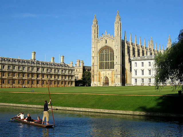 Bolsa Gates Cambridge   Kings College Chapell, Cambridge University   Foto: Andrew Dunn, via Wikimedia Commons