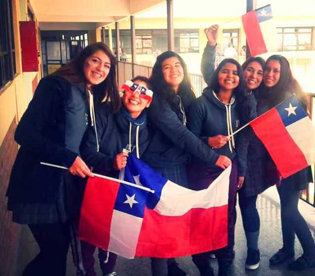 Heloisa Micaele em seu intercâmbio no Chile | Foto: Heloisa Micaele