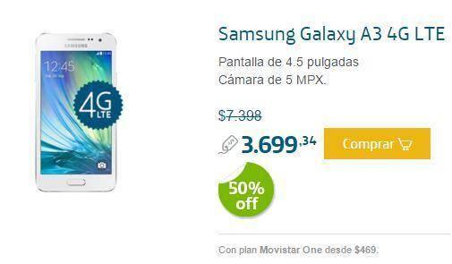 Promoción de Smartphones 50 Off en Movistar para Navidad 2