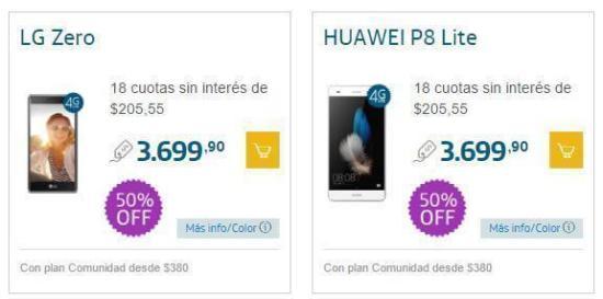 Promoción de Smartphones 50% Off en Movistar para Navidad 3