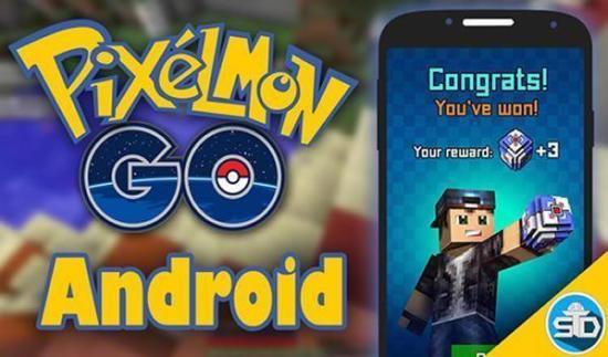 Descargar Pixelmon GO! para Android. Juego que combina Pokemon GO y Minecraft 1