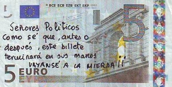 mandar un mensaje a los politicos Mandar un mensaje a los políticos