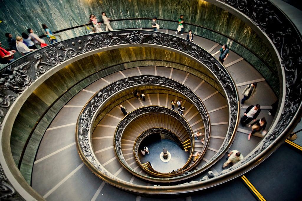 Las famosas escaleras del Vaticano