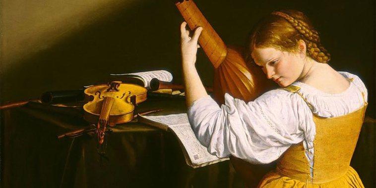 Orazio-Gentileschi-suonatrice-di-liuto