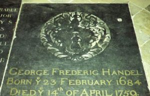 George Frideric Handel Tomba in Westminster a Londra