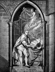 George Frideric Handel monumento Westminster Abbey Londra