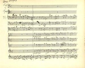 Hallelujah Handel pagina del manoscritto