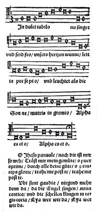 In dulci Jubilo spartito Gesangbuch