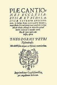 Piae Cantiones edizione 1625 copertina