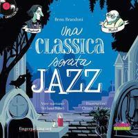 Una Classica Serata Jazz - copertina libro con fondo blu