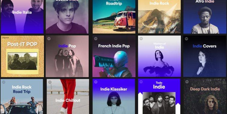 copertine playlist musica indie