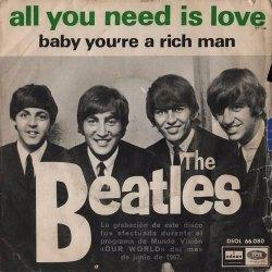 copertina 45 giri All you need is love