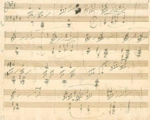 """Il manoscritto del """"Chiaro di Luna"""" di Beethoven"""