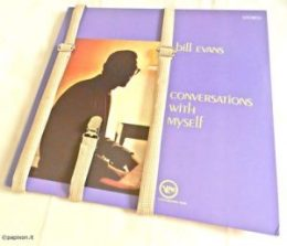 copertina del vinile jazz di Bill Evans Conversations with myself