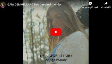 Gaia Gemmellaro nella copertina del suo video Due passi nel mondo