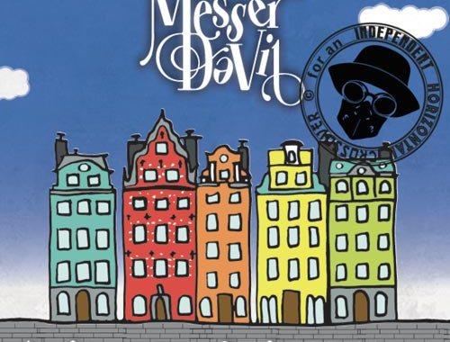 Copertina del disco dei Messer DaVil: La Sindrome di Stoccolma con delle casette colorate