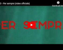 copertina del video di LANNO con la scritta PER SEMPRE in rosso su fondo verde
