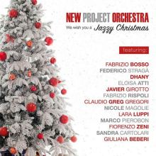 Copertina Alberto di Natale nella el disco dei New Project Orchestra: We wish you a Jazzy Christmas