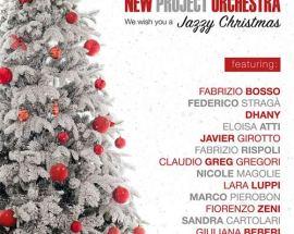 Copertina Alberto di Natale nella el disco dei New Project Orchestra: We wish you a Jazzy Christmas