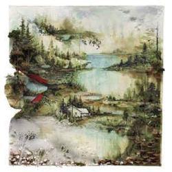 Un paesaggio sulla copertina del disco Bon IVER