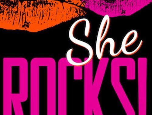 Copertina del libro di Alessandra Izzo: SHE ROCKS! - Giornaliste musicali raccontano