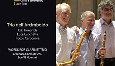 Copertina del CD del Trio dell'Arcimboldo: Works for Clarinetto Trio