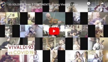 tanti musicisti che suonano il Largo dal Concerto per Liuto RV93 di Vivaldi