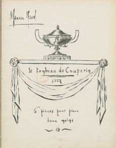 "Copertina prima edizione de ""Le tombeau de Couperin"""