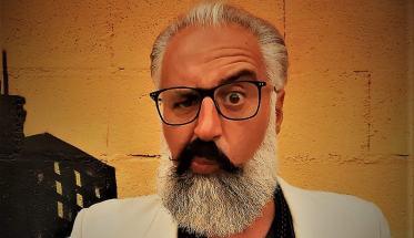 Loris Dali con la barba