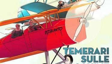 aereo rosso disegnato sulla copertina del disco dei Diskanto: Temerari sulle macchine volanti