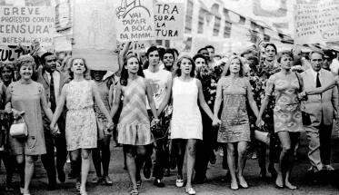 Musica Popular Brasileira, Attrici brasiliane guidano una manifestazione contro la censura
