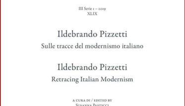Copertina libro CHIGIANA, Ildebrando Pizzetti, sulle tracce del modernismo italiano