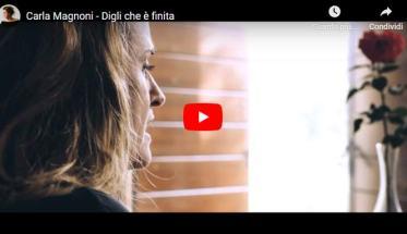 Carla Magnoni in copertina del video di Digli che è finita