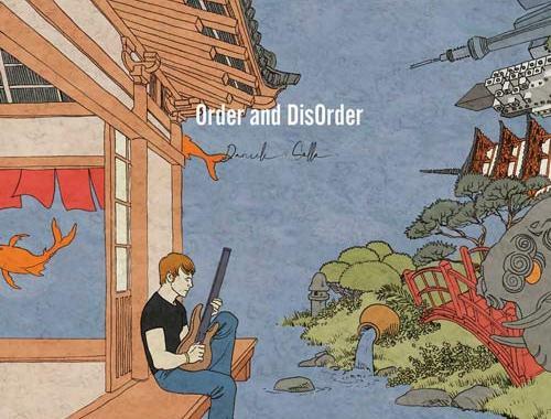 una illustrazione in copertina del disco di Daniele Sollo: Order and disOrder