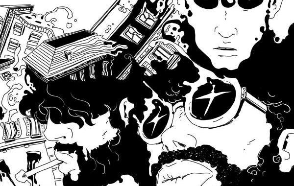 I The Lansbury in disegno sulla copertina dell'EP Alterazione