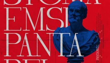 copertina con fondo rosso e scritta Stoma Emsi: Panta Rei
