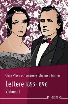 disegno di Clara Wieck Schumann e Johannes Brahms in copertina del libro Lettere 1853-1896 vol. 1