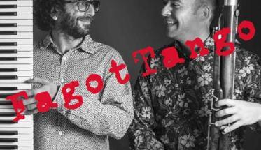 Antonino Cicero e Fabrizio Mocata in copertina del disco FagotTango
