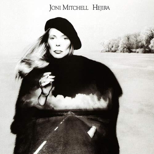 Joni Mitchel in copertina dell'album Hejira