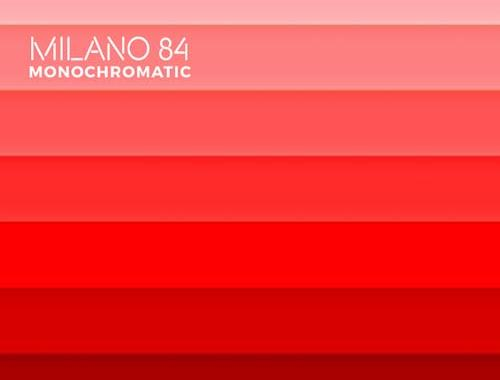 copertina del disco dei Milano 84, Monochromatic con sfumature di rosso